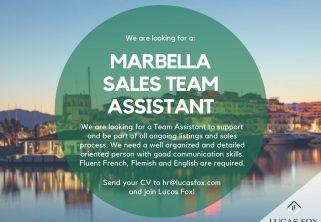 Marbella sales team assistant